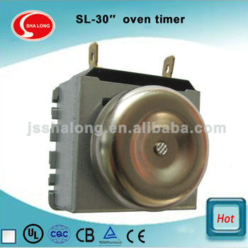 30 Minutes Clock Operated Mechanical Oven Timer With Bell