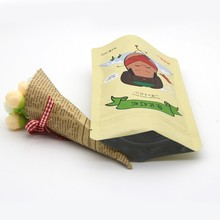 Easy carry delivery laminated kraft paper bag potato chips paper bag/chips food packaging design/french fries packaging