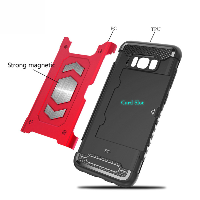 2 in 1 Heavy Duty Protector Phone Case For Samsung Galaxy S7 Edge Mobile Cover Parts