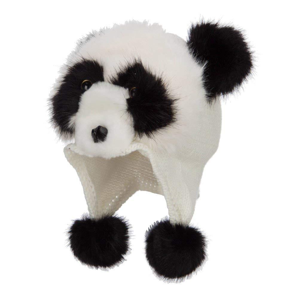 5855daaab03 Kid s Faux Fur Knit Animal Hat