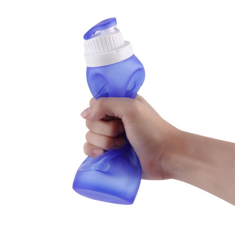 2016 Hot Selling Insulated Silicone Folding Foldable Squeeze sports water bottle BPA Free