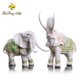 Thailand lucky animal crafts white elephant resin statue for home decor