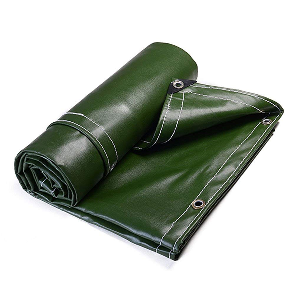 WUFENG Tarpaulin Super Thick Rainproof Linoleum 3 Anti-cloth Shade Wear-resistant Shed Cloth PVC Canvas Fire Retardant Anti-aging Truck 0.7mm Thick 700g/m2 (Color : Green, Size : 3x4m)