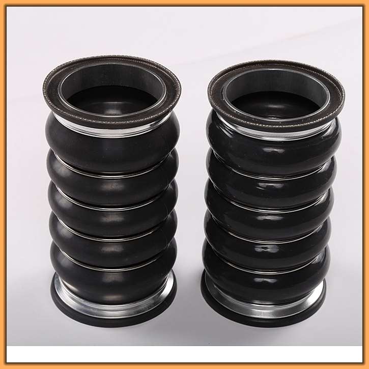 ISO9001 factory high-strength anti negative pressure EPDM or ACM supercharger air inlet hose used in bulldozer