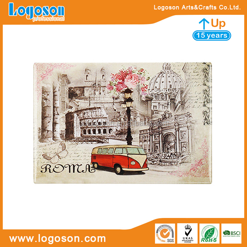 New Arrival Italy Milan Souvenirs Fridge Magnet Foil Paper Handmade Crafts Refrigerator Magnets Collectible Milano Magnets