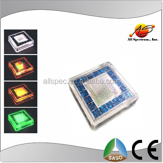 Brick light solar square use Tile with LED gradul color changing light
