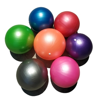 wholesale 25cm yoga ball pilates ball mini exercise ball with straw