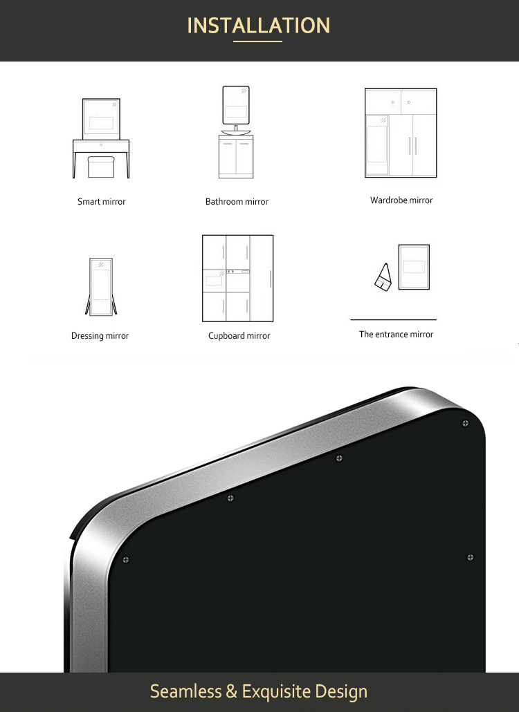 Motion Sensor Touch Screen Google Interactive Android Smart Lcd Mirrors -  Buy Lcd Mirror,Smart Lcd Mirror,Touch Screensmart Lcd Mirrors Product on
