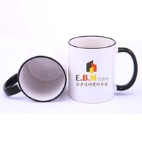 11oz Ceramic CE Economic Rim and Handle Colorful Sublimation Coffee Cup