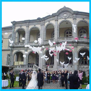 cheap wedding party foil dove balloons