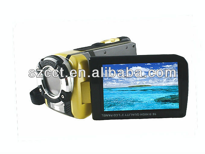 "Video camera waterproof 3.0""TFT LCD 16mp HD 1080P handheld camcorder HDDV-F901C"