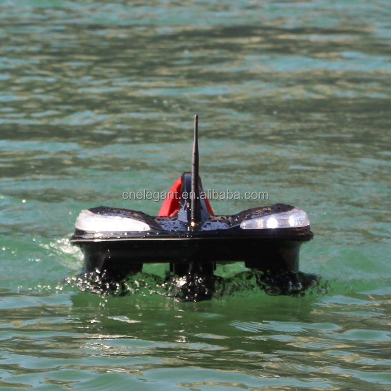 Sea Fishing Bait Boat 6kg Loading double tanks ABS Hull Remote Control Fish Finder, Black;blue;customized color