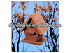 Pyramid-shaped Unique Delicate Wooden Bird Feeder,Bird House