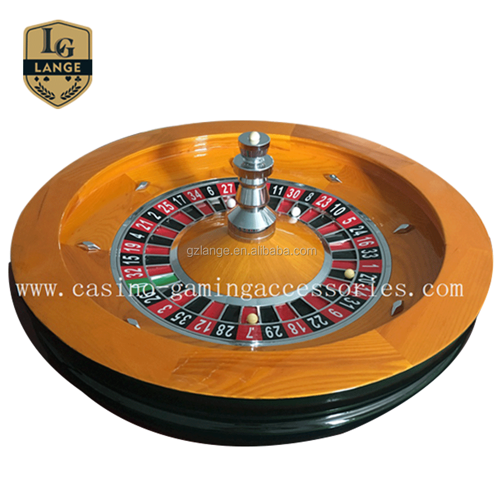 32' Professional Casino Roulette Accessories Wood Roulette Wheel