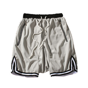 1b2b56c6033 european mens blank retro mesh basketball shorts with zipper pockets