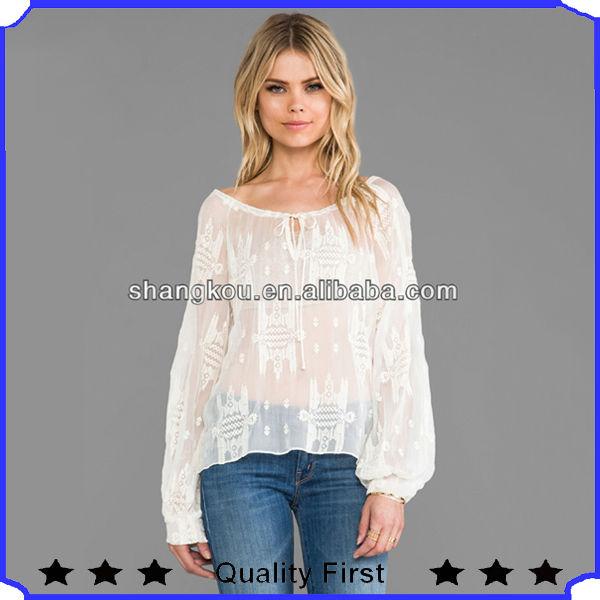 Alibaba china woman ropa mujer de encaje up escote barco for Suelto blanco suelto barato