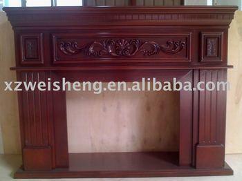 Wooden fireplace mantel buy indoor freestanding - Chimeneas artificiales decorativas ...