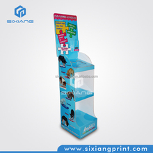 Promotion paper cardboard display rack in the store for puzzle games show