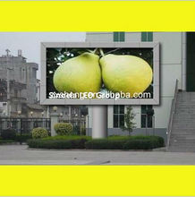 LED plaza board signs outdoor LED monitor display PH12.5mm pillar mounted LED panel screen advertise LED display