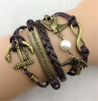infinity symbol leather bracelet brown leather bracelets diy leather bracelet kit