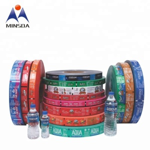 Waterproof PVC Customized Plastic Mineral Water Bottle Label Shrink Wrap Sleeve
