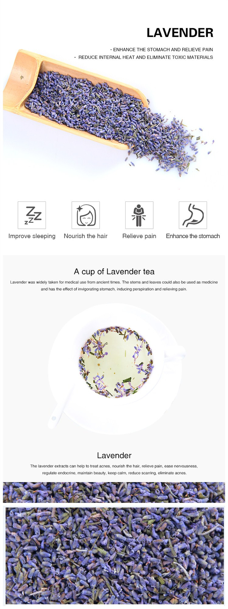 Flavor Tea Health Sleep Tea Scented Dried Flower Lavender - 4uTea | 4uTea.com