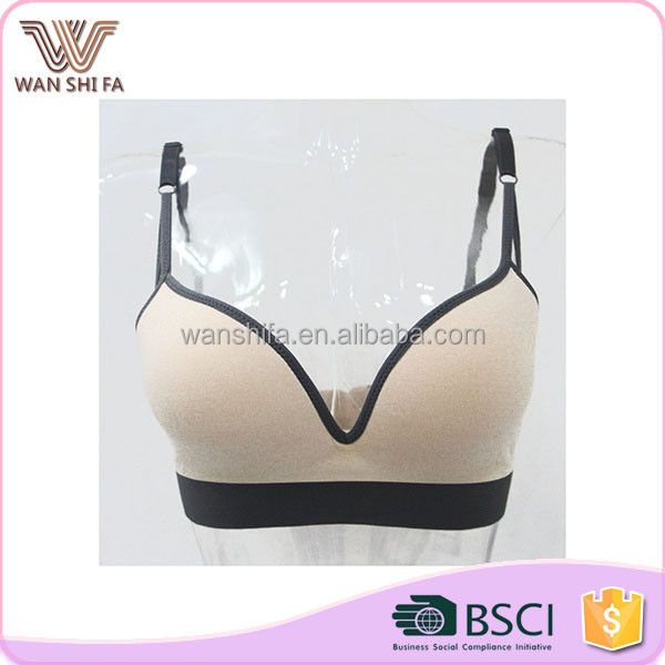 Women padded bra comfortable nylon soft lace undergarment set