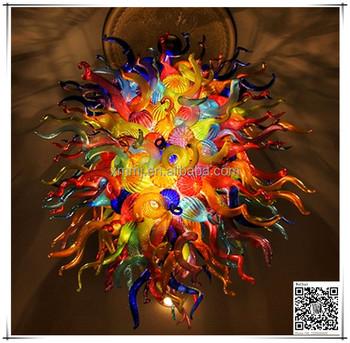 Modern hand blown art multi colors glass light chandeliers ceiling modern hand blown art multi colors glass light chandeliers ceiling aloadofball Images