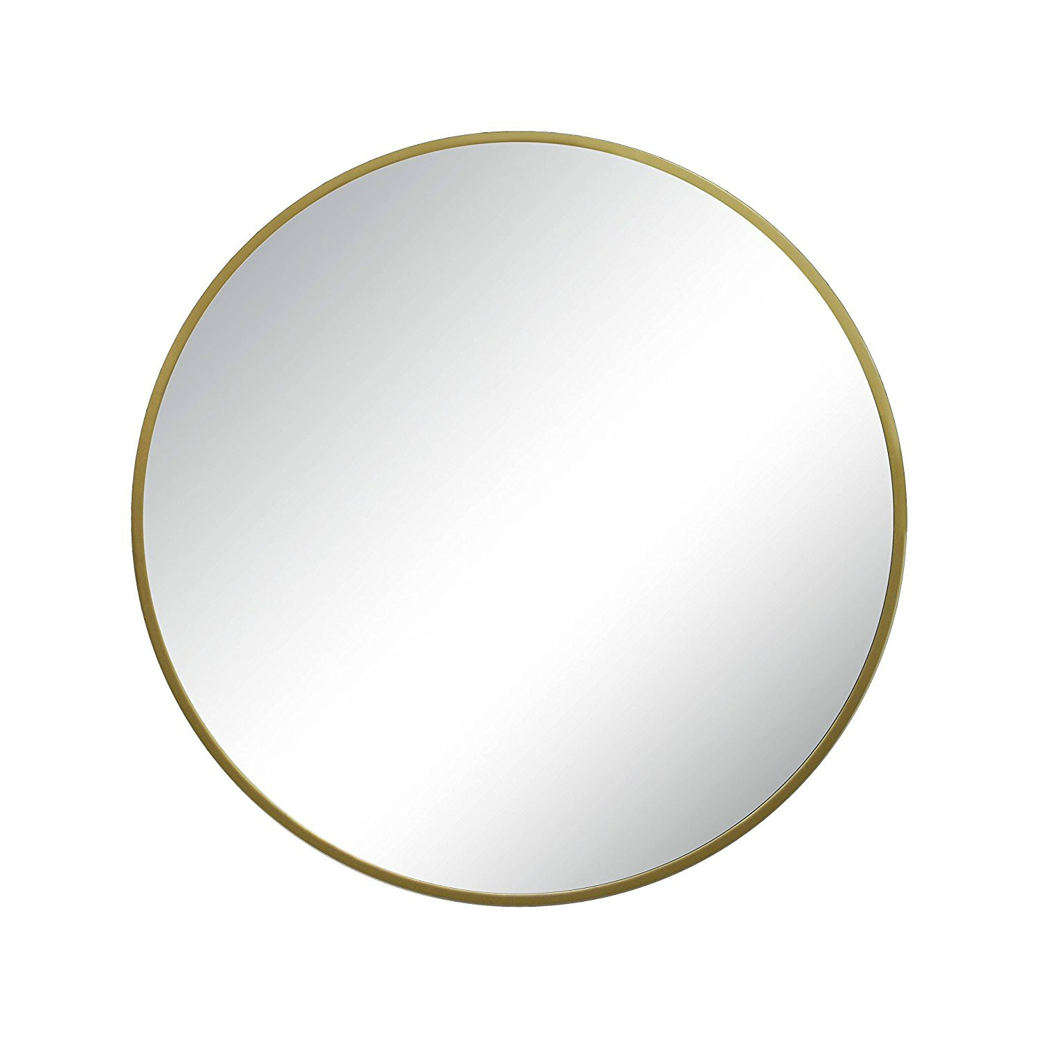 decorative usage stainless steel plating metal glass round wall mirror
