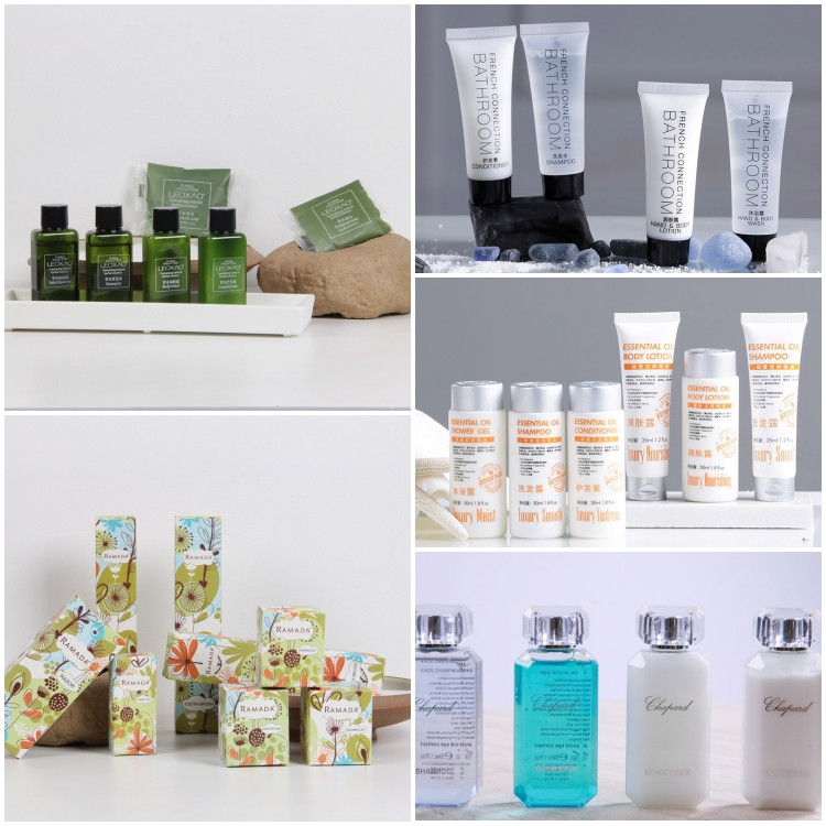 Customized Mini Disposable Amenities Set 30ml Bottle Hotel Soaps And Toiletries For Sale