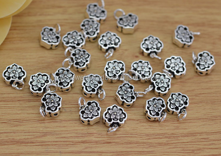 Fashion jintai silver lotus Beads pendant accessories jewelry bracelet necklace tee