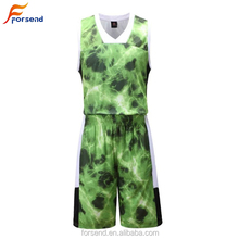 Grüne Farbe Billige Kunden Polyester Dry Fit <span class=keywords><strong>Basketball</strong></span> Jersey Uniform