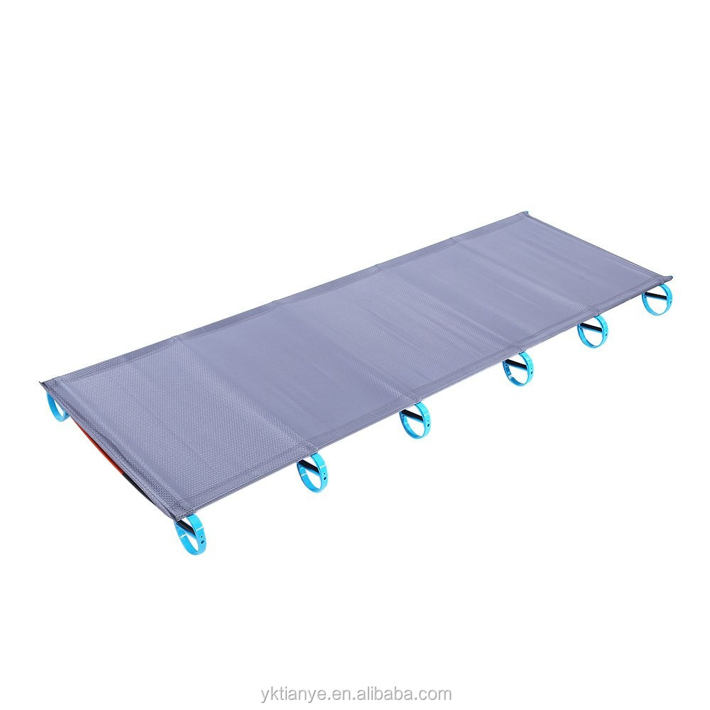 Hot Sale Camping Mat Ultralight Sturdy Comfortable Portable Folding Tent Bed Cot Sleeping Outdoor Camp Bed Aluminium Frame Sports & Entertainment
