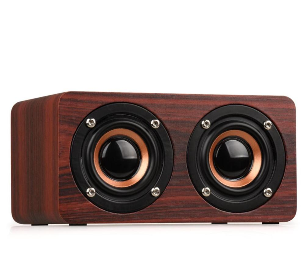 Wood Fake Wooden Cube Wireless Blue Tooth Speaker With Double Loudspeakers Soundbox Blue Tooth Speakerportable Buy W5 Speakerwireless Speaker