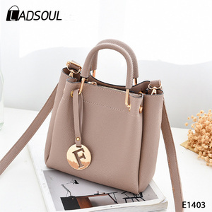 New Fashion Wholesale Women Single Handle Pu Leather Tote Handbags