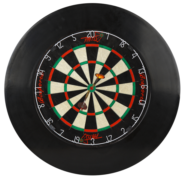 Wholesale 18-inch Tournament Bristle Dartboard, Double-Sided Flocking Customized Dart Board
