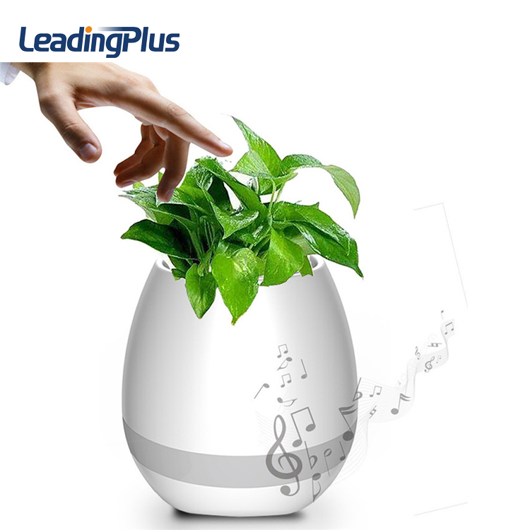 Innovation Touching Flower Singing Plant Interaction Bluetooth Speaker Led Smart Music Flowerpot