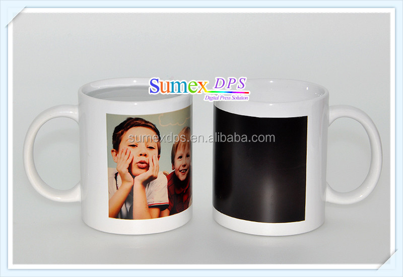 11oz white mug with color Partial Patch Magic Color Changing