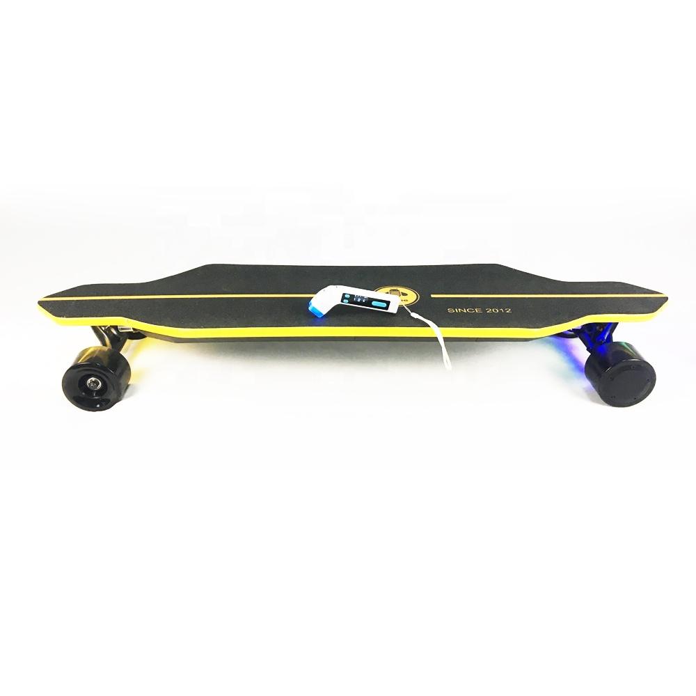 44mph adult 1000w dual hub motor 36v battery dual hub motor fastest off road electric skateboard longboard with remote control