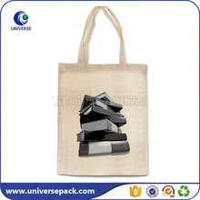 Promotion natural tote canvas conference bags with custom printed logo