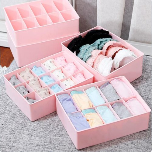Underwear Socks Ties Bras Wardrobe Organizer Drawer Storage PP Plastic Box
