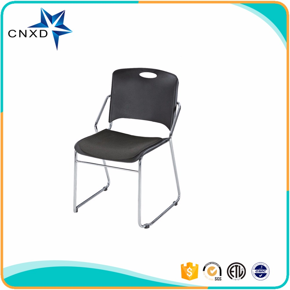 With PP cushion PP chair office swivel chairs no wheels no arms