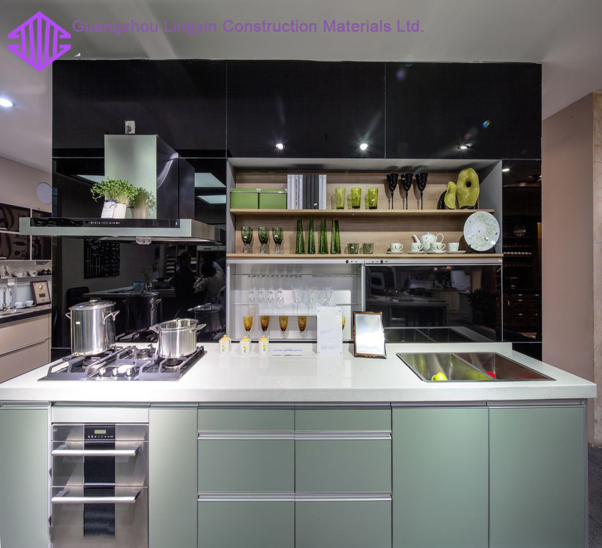 Small Kitchen Design Color High Gloss Kitchen Cabinets ...