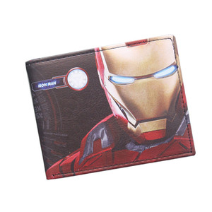 Hot Product Iron Man Comics Wallet Cool Boy Girl Money Clips Iron Man Purse Small Money Dollar Wallet Bifold Avengers Wallet