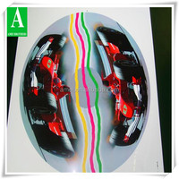 Manufacture OEM vacuum forming plastic bicycle wheel decorations