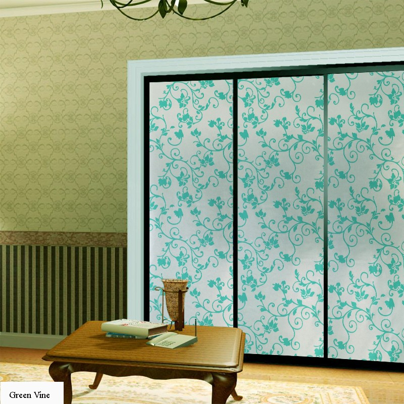 45/60*400cm Opaque Privacy Decorative Stained Glass Window