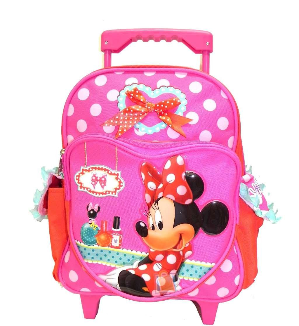 2755629531 Get Quotations · Small Rolling Backpack - Disney - Minnie Mouse - Make Up