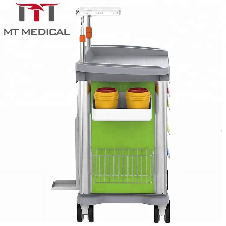 Italy new design hospital medical emergency crash anaesthesia trolley cart price