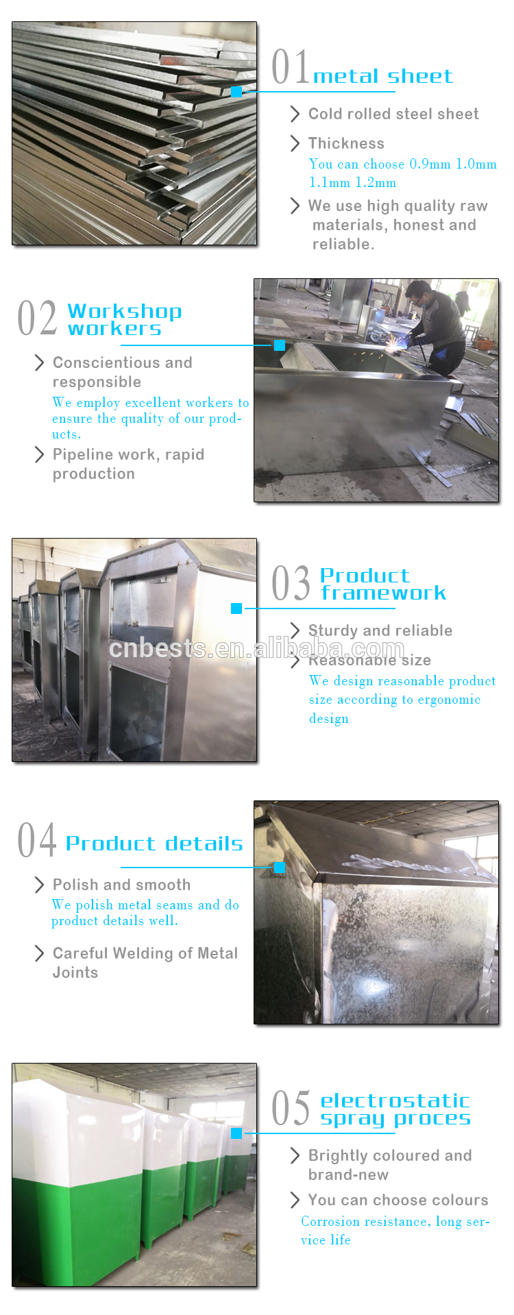 2mm galvanized steel clothes donation bin clothes recycle bin low price donation bin
