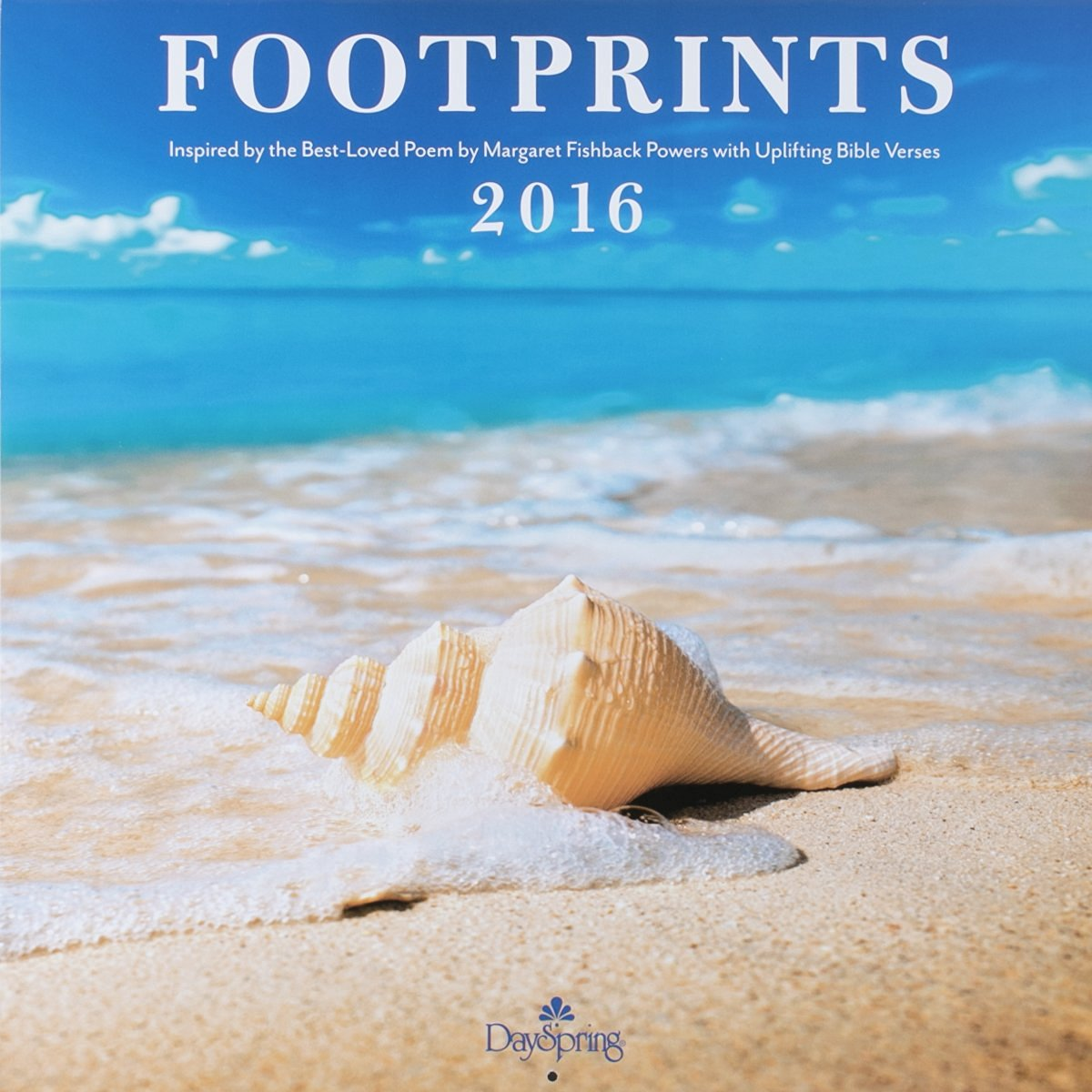 "DaySpring 12"" x 12"" 2016 12-Month Wall Calendar, Footprints (73553)"